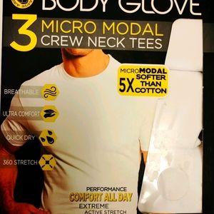 Body Glove 3 Crew Neck tees White Size small